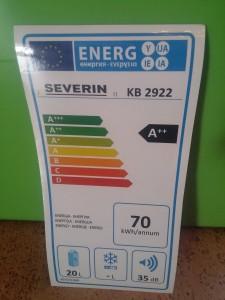 Das Energielabel der Kühlbox
