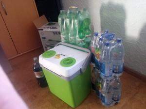 Beladung der Kühlbox im Check