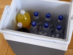 Voll beladene Kühlbox