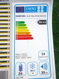 Energielabel G30 von Mobicool