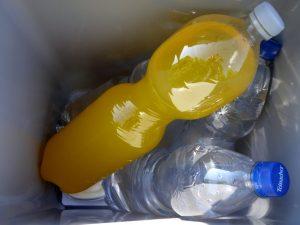Getränke in einer Kühlbox