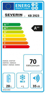 Severin KB 2923 Energielabel